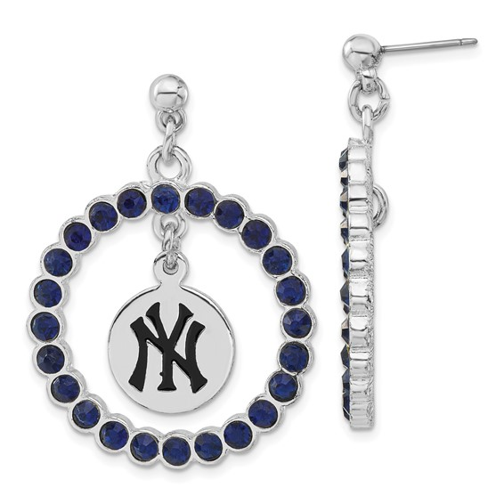 New York Yankees Spirit Crystal Logo Earrings
