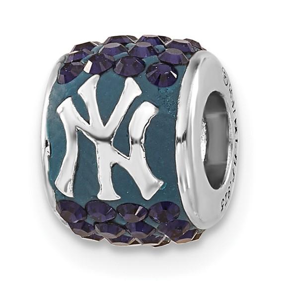 New York Yankees Premier Bead Charm Sterling Silver