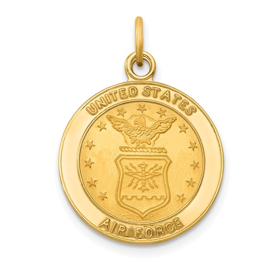 14kt Yellow Gold 5/8in U.S. Air Force Insignia Medal