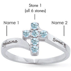 Devotion Cross Mother's Ring