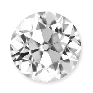 Moissanite Loose Old European Cut Stone 9.0mm