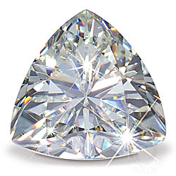 Moissanite Loose Trillion Cut Stone 9.5mm - 2.78ct