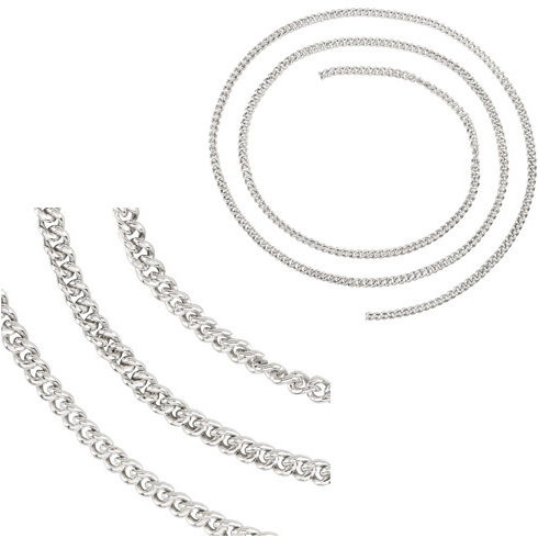Sterling Silver 24in Curb Chain 2.25mm