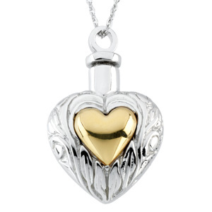 Sterling Silver Heart Ash Holder Pendant & Chain