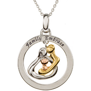 Embrace by the Heart (Family) Embrace Circle Necklace