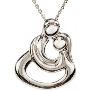 Embraced by the Heart (Couples Embrace) Necklace