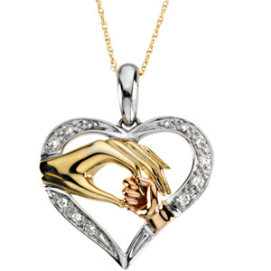 14kt Tri-Color Gold Tender Touch Pendant