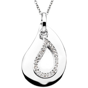 A Tear to Treasure Pendant & Chain