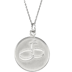 Sterling Silver Loss of Spouse Pendant & Chain