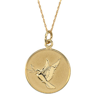 14kt Yellow Gold Forgiveness Pendant & Chain