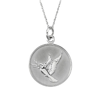 14kt White Gold Forgiveness Pendant & Chain