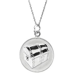 Sterling Silver Beautiful Treasure Pendant & Chain