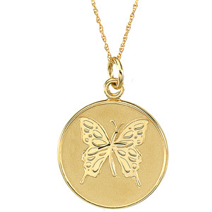 14kt Yellow Gold Loss of Mother Pendant & Chain