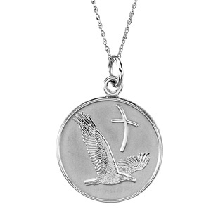 Sterling Silver Overcoming Difficulties Pendant & 18in Chain