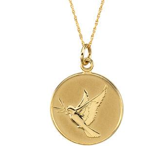 14kt Yellow Gold Forgiveness Pendant & Chain