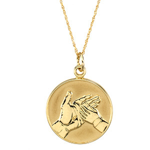14kt Yellow Gold Loss of Child Pendant & Chain