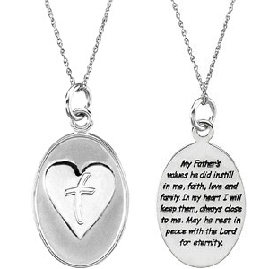Sterling Silver Loss of Father Pendant & Chain