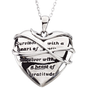 Survivor with a Heart of Gratitude Necklace