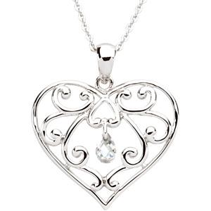 The Healing Heart Pendant & Chain
