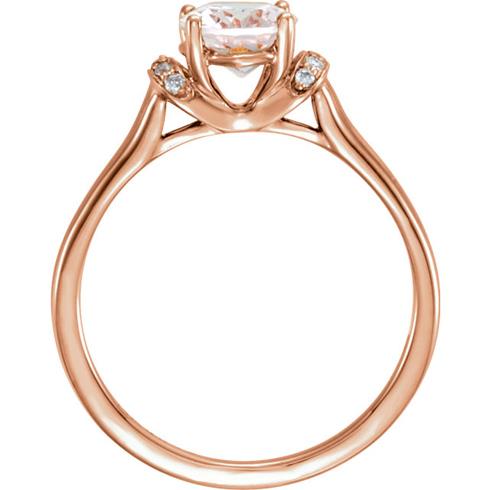 14kt Rose Gold 1 2 ct Oval Morganite & 05 ct tw Diamond Ring JJ