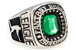 Fantasy Baseball Victor Ring - White Lazon