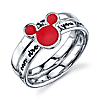 Sterling Silver Red Enamel If You Can Dream It Mickey Mouse ring