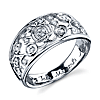 Sterling Silver 1/10 ctw Diamond Fairy Tale Moments Await Cinderella Ring