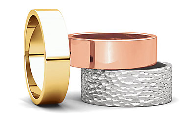 Gold wedding band colors